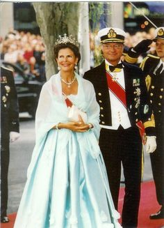 Queen Silvia and King Karl Gustaf of Sweden.
