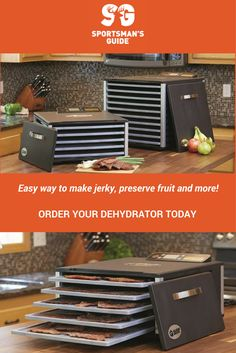 Preserve your meat, fruits and vegetables and make yourself some tasty jerky, fruit leather, or healthy snacks with the Guide Gear 5-Tray Heavy-Duty Food Dehydrator!