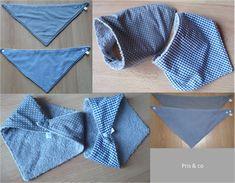 tuto dodu apprends coudre un bavoir foulard couture pinterest serviette hygi nique. Black Bedroom Furniture Sets. Home Design Ideas