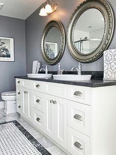 Glamorous #gray #bathroom