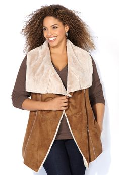 Faux Fur and Leather for Plus Sizes