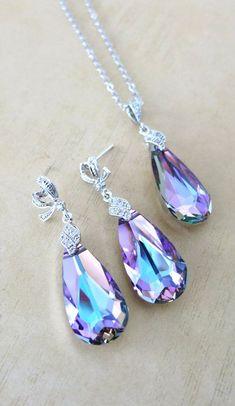 Katelyn Jewelry Set Swarovski Vitrail Light