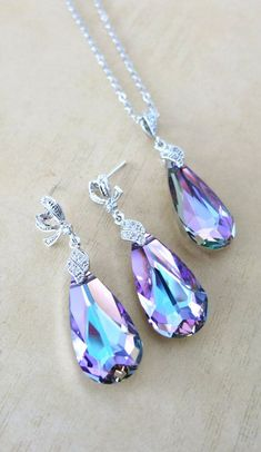 Katelyn Jewelry Set Swarovski Vitrail Light