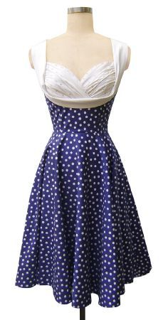 1950s style Honey Dress -'Lucy Dots'