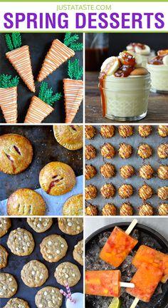 Easy Spring Dessert Recipes from justataste.com | #recipe #dessert #spring