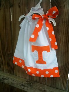Not a Tennessee Fan...but this concept would be super cute for a UGA dress....and red is a much better color!!!