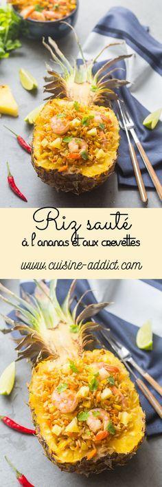 Riz sauté à l'ananas et aux crevettes