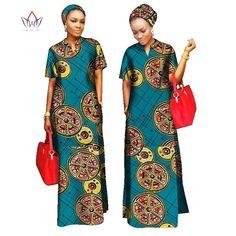 2018 estilos Mulheres roupas Riche Bazin africano Livre Material de Lenço de Cabeça Reta 100% Algodão Senhora Vestido Longo Maxi Tamanho WY843
