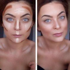 16 ideas for diy beauty hacks nails makeup Face Contouring, Contour Makeup, Contouring And Highlighting, Makeup Eyeshadow, Contour Face, Diy Beauty Hacks, Beauty Hacks Nails, Makeup Tips, Beauty Makeup