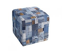 Poef leeman; to go with the jeans labels pillows | Dalani Home & Living