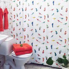 Fint och sommarfräscht till badrummet! Duschdraperi 225kr, finns i Täby C. Handduk Bali, finns i flera olika färger och storlekar, både i Skrapan & Täby C. #habitatsverige