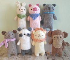 Amigurumi Knit Baby Animals Pattern Set Digital por AmyGaines