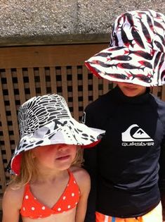 Free printable pattern from Martha Stewart for reversible sun hat