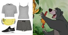 You Pretty Much Need These 14 Novelty Bags to Complete Your Next DisneyBound Look   The Jungle Book's Baloo-inspired outfit + Kate Spade banana purse   [ http://di.sn/6000B7fNi ]