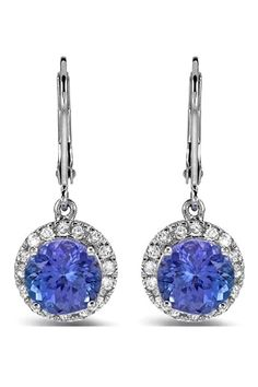 4.93 CTW Tanzanite 14K Gold Earrings - Enviius