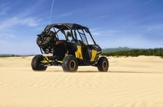The Maverick tearing it up in the sand dunes.