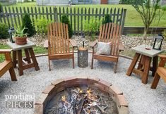 The Exterior Fire Pit Ring – Outdoor Kitchen Designs Diy Fire Pit, Fire Pit Backyard, Backyard Patio, Diy Patio, Backyard Seating, Pallet Patio, Barbacoa, Fire Pit Chairs, Fire Pit And Adirondack Chairs