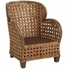 Kesambi Wing Chair - love the traditional cane weave pattern on a large scale