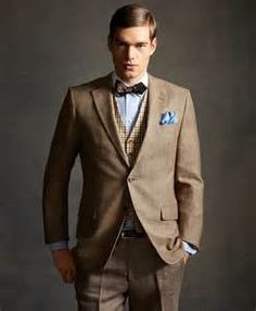gatsby_collection_brooks_brothers - shop the look - menswear. Gatsby Man, Gatsby Style, 20s Fashion, Mens Fashion Suits, Jackets Fashion, Vintage Fashion, Brothers Clothing, Gatsby Costume, Gatsby Dress