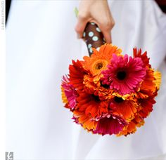 Gerbera Daisy Bouquet in pink and orange.