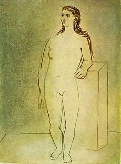 picasso drawings | Naked Woman Standing - A picasso drawings and illustrations art ...