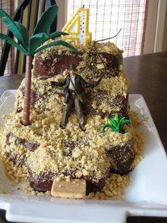 Easy Indiana Jones Temple Cake | Life as MOM - kids can easily help you make this cake.