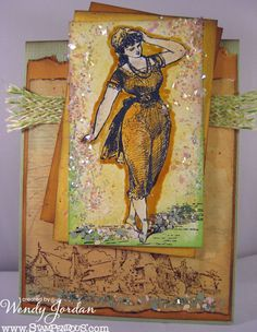 Paper Therapy: Stampendous Color Inspiration Challenge!! So Citrus, Wendy! YUM!