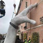 Support: Monumental Hands Rise from the Water in Venice to Highlight Climate Change