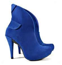 Resultado de imagen para zapatos azules mujer