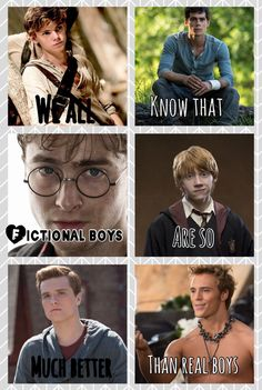 Newt, Thomas, Harry, Ron, Peeta, Finnick