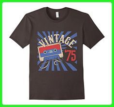 Mens Vintage '75 Born in 1975 42nd Birthday Mixtape T-Shirt Large Asphalt - Birthday shirts (*Amazon Partner-Link)
