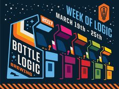 "Bottle Logic ""Week of Logic"" Banner by Emrich Office #Design Popular #Dribbble #shots"