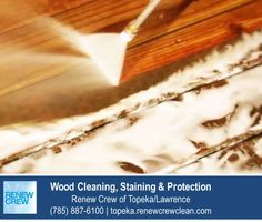 http://topeka.renewcrewclean.com/deck-cleaning – This may look like traditional wood deck pressure washing but its not. Renew Crew of Topeka/Lawrence proprietary cleaning solution loosen years of grim and mold from the wood so it can be sprayed away at lower pressures that do not damage the wood. We serve Topeka plus Lawrence KS. Free estimates.