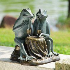 Outdoor Statues Frog Garden