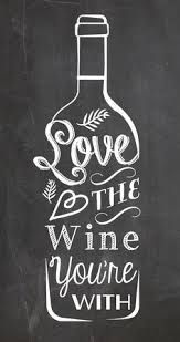 wine chalkboard art love - Google Search