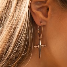 Cross Hoops- Rose Gold | Luv Aj