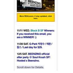 Winners #BlockB SF Tickets + G-Park #박명수 LA Tickets last day for early bird ticket purchase + #Beenzino SF x Soul Krush. all inside: http://eepurl.com/bFNbCD  #gpark #greatpark #zico #parkmyungsoo #losangeles #sanfrancisco #belasco #warfield #origin #sf #la #show #concert #party #edm #hiphop #soulkrush #지코 #블락비 #샌프란 #엘에이 #빈지노 #소크 #소울크러쉬