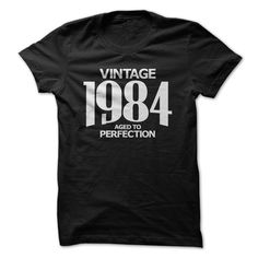 (Tshirt Sale) Vintage 1984 Aged to Perfection Discount Best Hoodies Tees Shirts