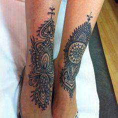 Black Pattern Tattoo By Freddie Albrighton   http://tattoos-ideas.net/black-pattern-tattoo-by-freddie-albrighton/