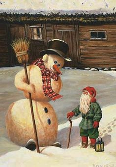 snowman with elf