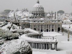 Snow in Rome, Italy