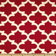 Premier Prints Fynn Timberwolf Red from @fabricdotcom  Screen printed on cotton duck; this versatile medium weight fabric is perfect for window accents (draperies, valances, curtains and swags), accent pillows, duvet covers and upholstery. Create handbags, tote bags, aprons and more. *Use cold water and mild detergent (Woolite). Drying is NOT recommended - Air Dry Only - Do not Dry Clean. Colors include ivory and red.