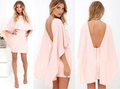 Things are looking up with items like the Best is Yet to Come Peach Backless Dress making their way into your wardrobe! Dress Outfits, Casual Dresses, Short Dresses, Fashion Dresses, Look Fashion, Womens Fashion, Fashion Design, Fashion News, Beautiful Dresses