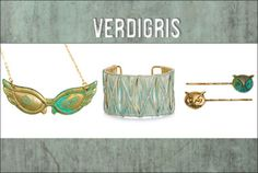 Verdigris invariably makes us do a double take. With that vintage-yet-fresh look, aged copper (transformed by the elements, seawater, or an application of acid) becomes something really special - and fashion, of course, has to offer up its take.