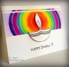 Diy Diwali Cards, Diwali Card Making, Diwali Greeting Cards, Diwali Greetings, Diwali Diy, Diwali Craft, Greeting Cards Handmade, Diwali Painting, Diwali Drawing