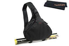TechCare Tm Ultra Light DSLR Camera Black Case Travel Shoulder Bag for Canon EOS 70D 60D 6D T3i T4i T5i 7D 5D MK Series Nikon D610 D600 D7000 D7100 D5200 D3200 D800 D300s * You can get more details by clicking on the image.