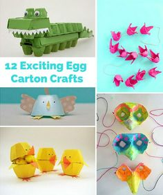 "Creative and ""egg-citing"" egg carton crafts!"