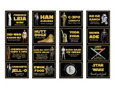 Star Wars Birthday Party on a Budget - Printable Star Wars - Ideas of Printable Star Wars #starwars #printable #files - Star Wars Themed Food, Star Wars Party Food, Star Wars Food, Star Wars Decor, Star Wars Day, Star Wars Party Decorations, Food Themes, Party Themes, Party Ideas