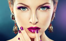 Lilac makeup wallpapers and images - wallpapers, pictures, photos