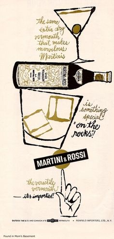 """""""Martini & Rossi vintage ad"""" in Advertising"""